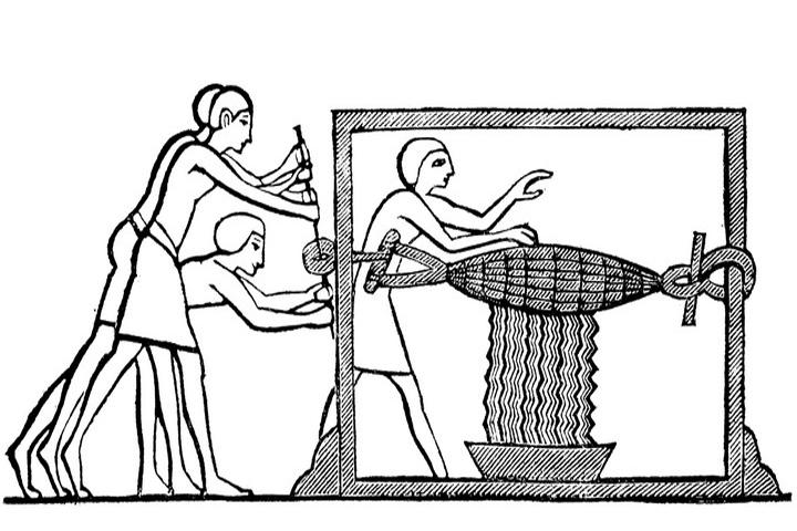 Выжимание винограда в Египте