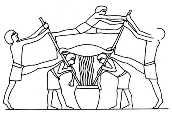 Выжимание винограда в Египте 2