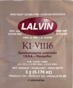 Дрожжи винные 1116