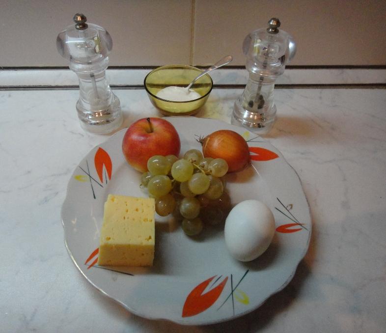 ингридиенты виноградного салата