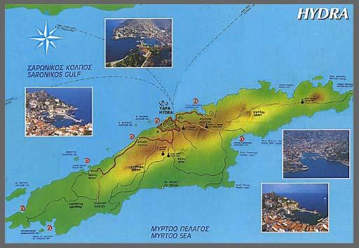 карта Идры